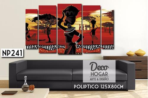 oferta! poliptico 125x80cm cuadro decorativo moderno paisaje