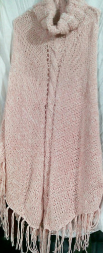 oferta   poncho ideal tejido a mano