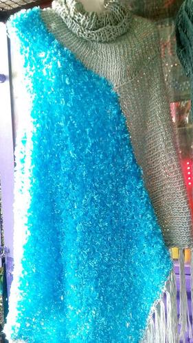 oferta poncho tejido a mano