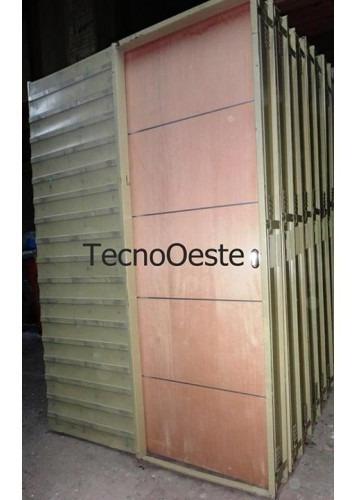 !oferta! puerta placa corrediza embutir cedro apliques 80-15