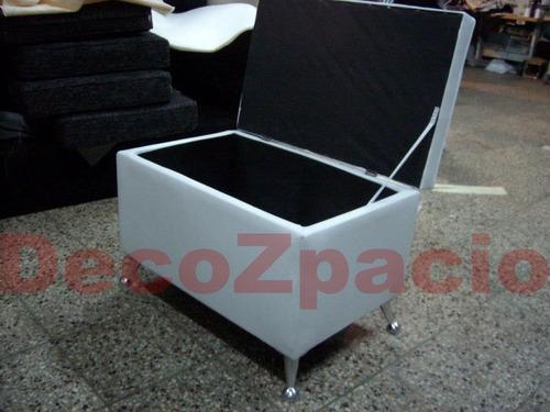 oferta puff botinero apoyapies patas en aluminio decozpacio