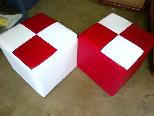 ¡oferta! puffs rigido en cubo y redondos (no) anime.
