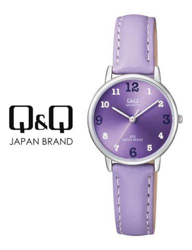 oferta regalo para dama reloj q&q mujer cuero rojo