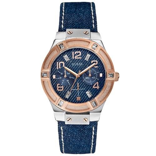 Oferta Relógio Guess W0289l1 Ladies Pulseira Jeans Original - R  399 ... ac0f13780e