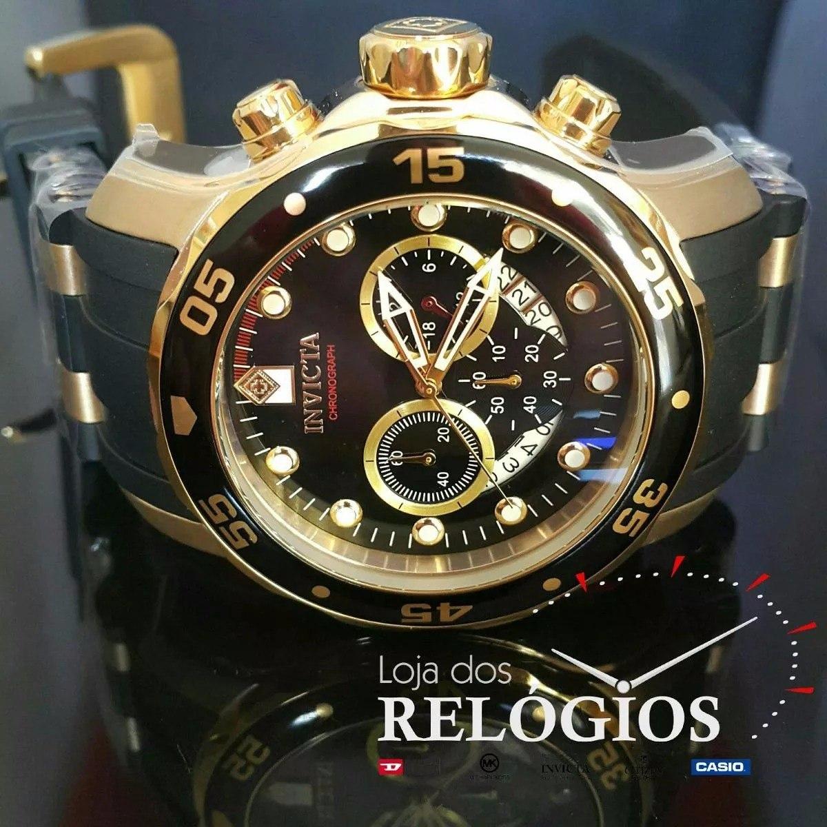 9dcf178039d oferta relógio invicta 6981 21928 original b.ouro 18k. Carregando zoom.