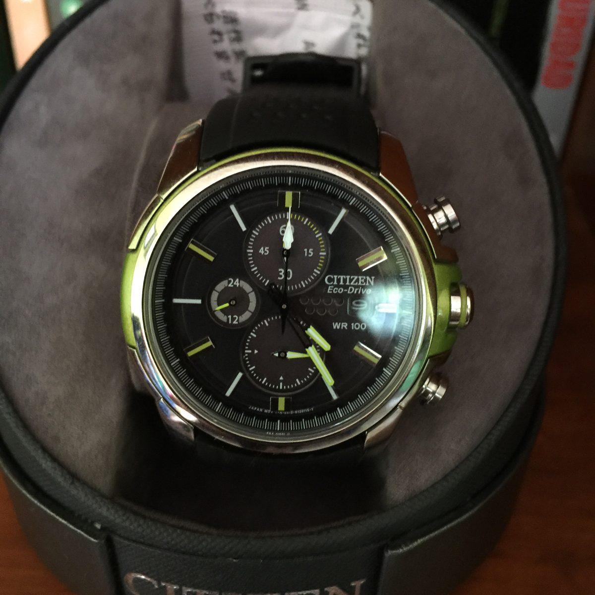 Oferta Reloj Citizen Eco Drive Negro Verde Nuevo