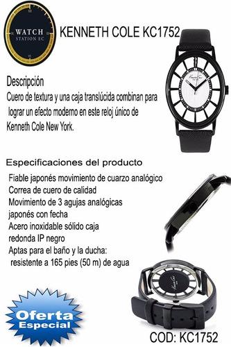 oferta - reloj kenneth cole kc1752- cuero original