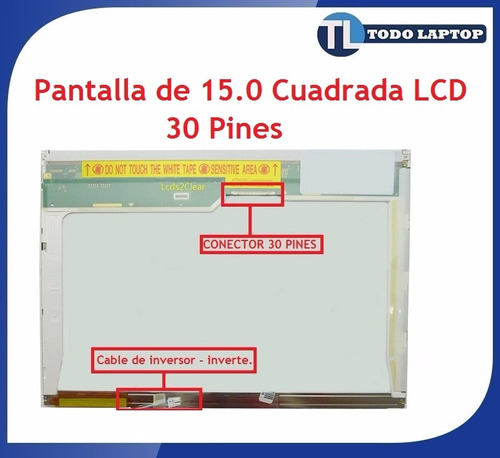 oferta remate pantallas de 15.0 cuadradas 30 pines lcd