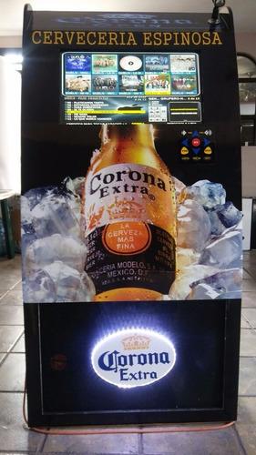 oferta rockola corona, 1 tb 22 led, baffle 15, monedero