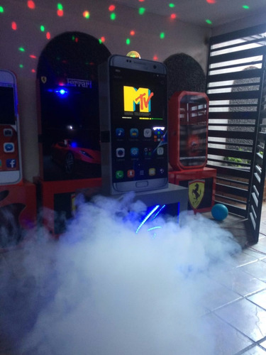 oferta rockola galaxy s7 2018 humo,esfera,led, micro inalamb