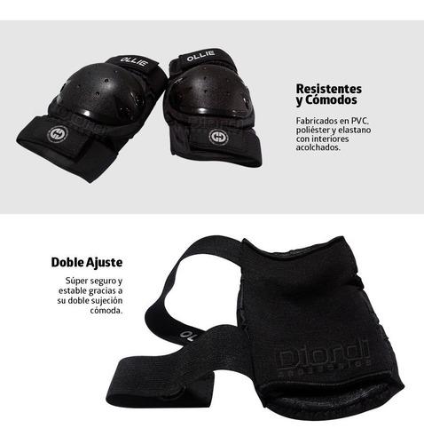 oferta rodilleras para niños kit de protección ollie talla s