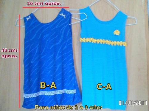 oferta ropa vestidos de niñas 6-18m y 2-3 años