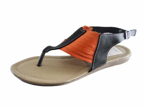 oferta sandalias de dama bajitas en cuero