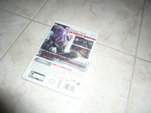 oferta, se vende transformers cybertron adventure wii