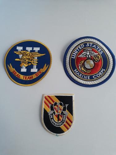 oferta set 3 parches militares bordados usa estados unidos