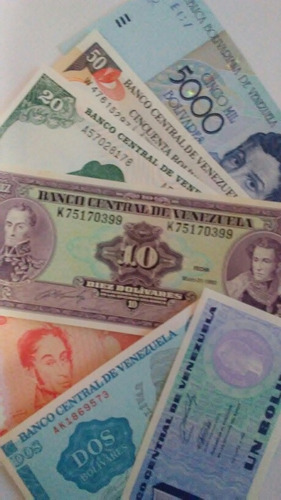 oferta set billetes antiguos venezolanos.sin circular unc