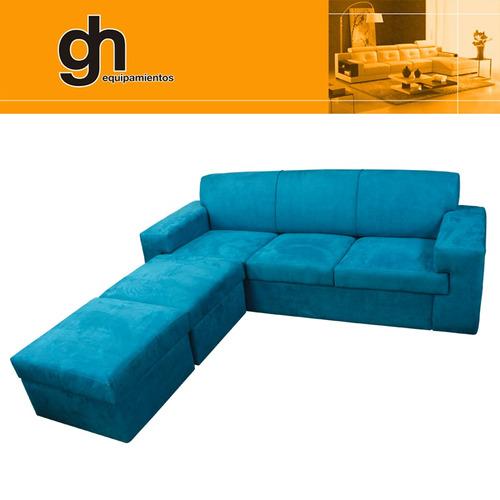 oferta sofa de 3 cuerpos esquinero minimalista + 2 islas gh