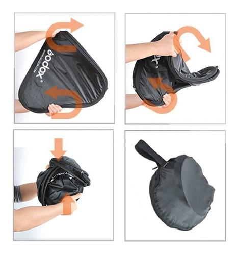 oferta!! softbox godox 40x40cm difusor bracket swivel flash