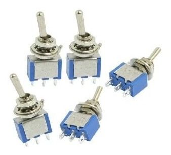 oferta switch metalico on-on 3 patas 250v 3a x10 unidades