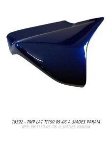 oferta tampa lateral titan150 2005 a 2006 azul par s/adesivo