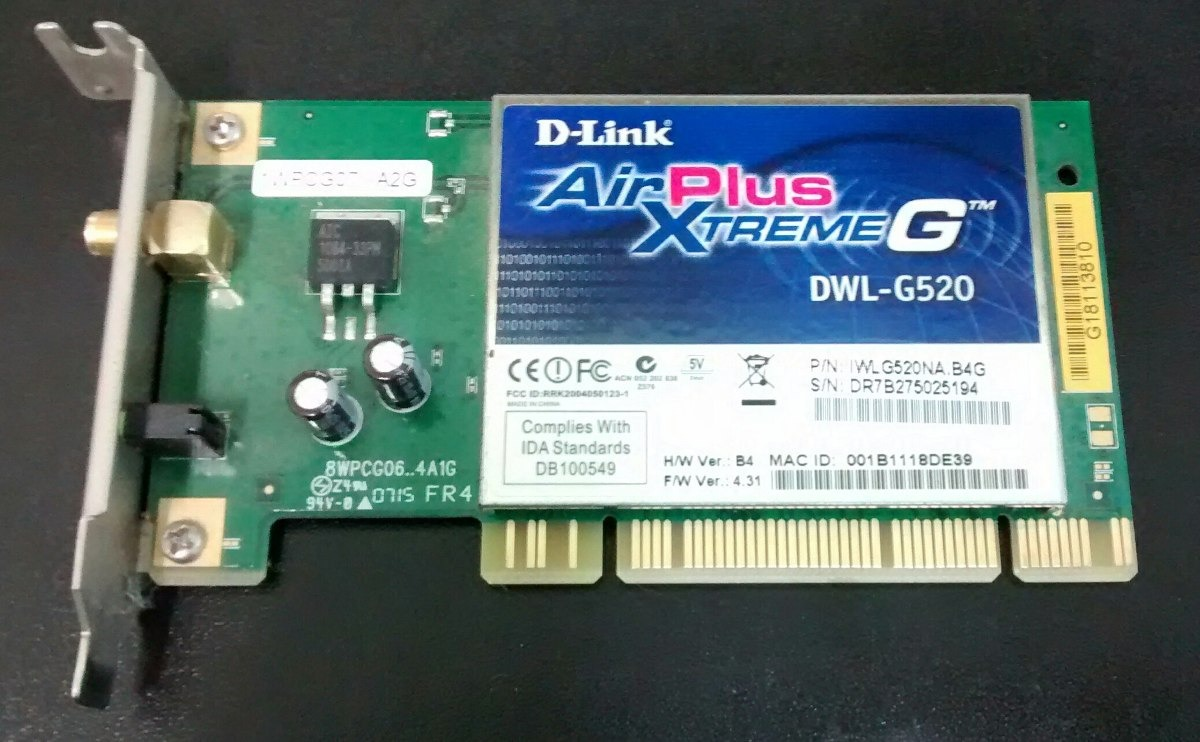 D-Link AirPlus Xtreme G DWL-G520 Wireless Drivers for Windows Download