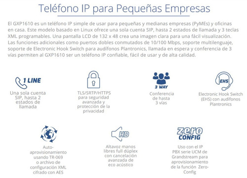 Oferta Telefono Ip Grandstream Gxp1610 1 Cuenta Sip