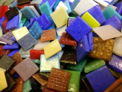 oferta teselas vitreas para mosaico 100 unidades surtido