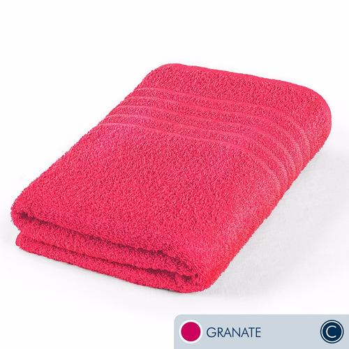 oferta toallas ama de casa classic jumbo granate