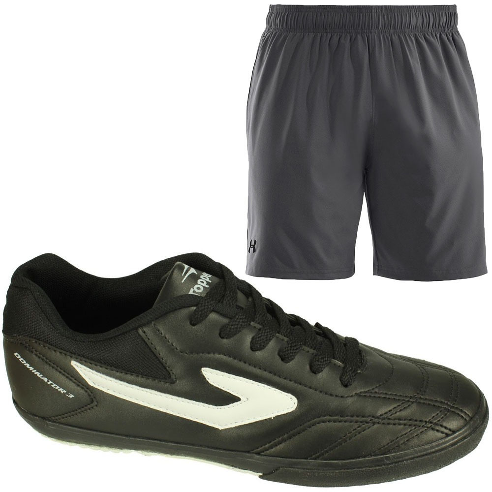 01294cb8b660a Oferta Topper Chuteira Futsal + Short Under Armour Masculino - R ...