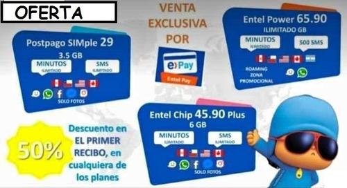 oferta unica promocion 50% venta de chip/sim entel delivery