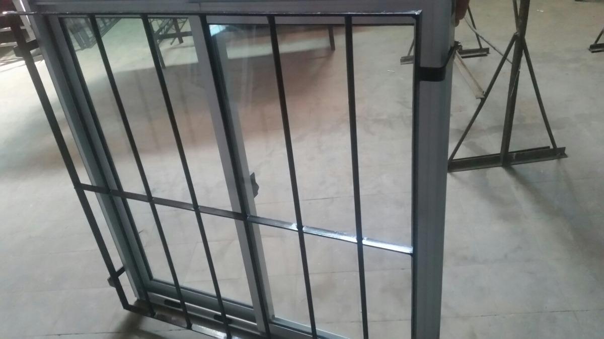 Oferta , Ventanal De Aluminio Con Vidrio Y Reja Incluida ...