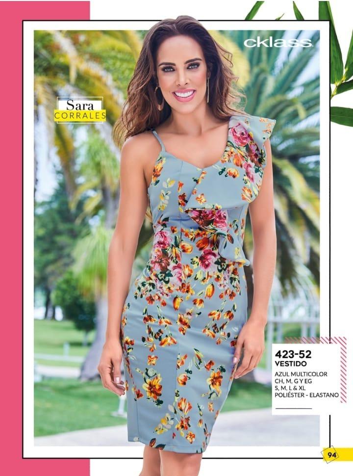 Oferta Vestido Azul Multicolor Floral Cklass 423 52 Pv 2019