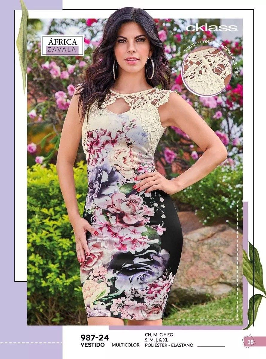 Oferta Vestido Floral Multicolor Cklass 987 24 Pv 2019