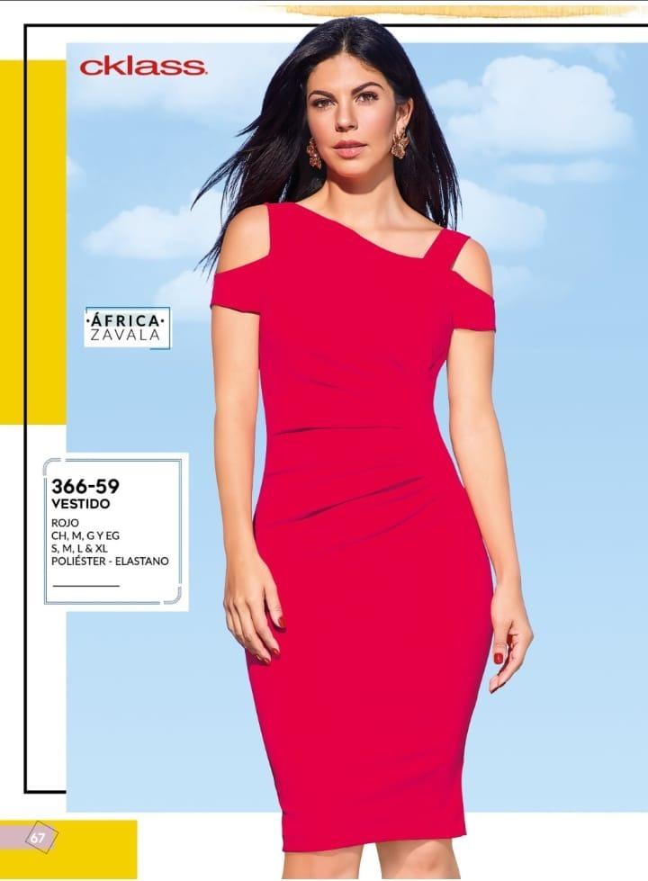 Oferta Vestido Rojo Cklass 366 59 Dama Moderno Pv 2019