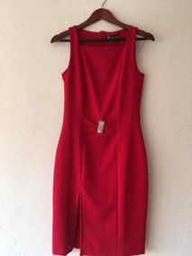 Oferta Vestido Sara Bustani Color Rojo Cereza