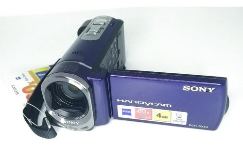 oferta video camara sony dcr-sx44 60x cargador cable usb