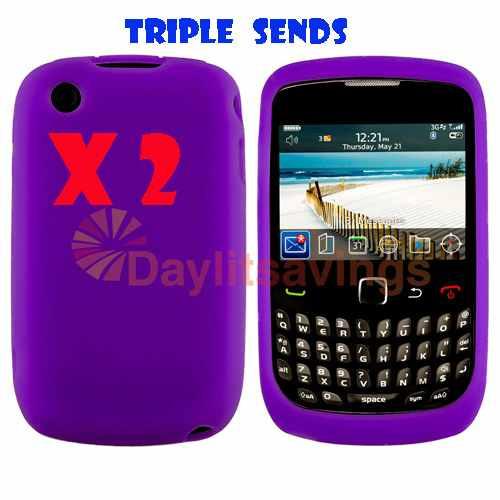 oferta x2 funda de silicona blackberry curve 8520