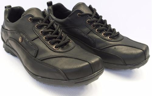 oferta zapatilla zapato urbano cuero hombre puerto blue