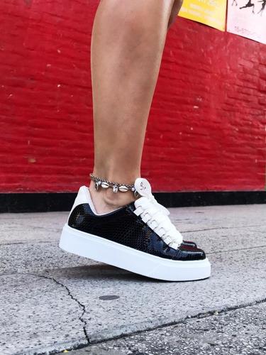 oferta!!! zapatillas plataforma sneakers mujer liverpool