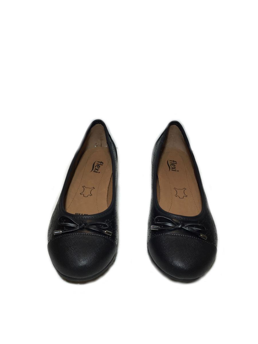 6f0f4a53 oferta zapato balerina flats flexi mujer piel negro cómodo. Cargando zoom.