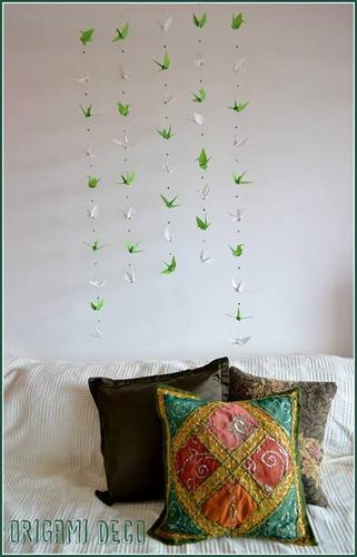 oferta!10 colgantes grullas origami lindos-fiestas vidrieras