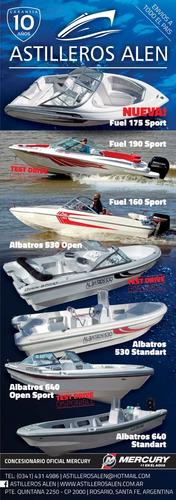 **oferta!!!lancha tracker albatros 640 stdt c/mercury 40 elo