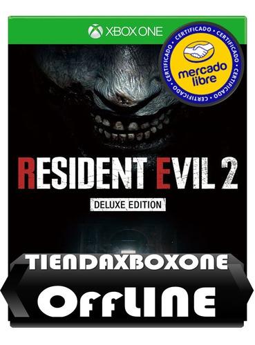 oferta::resident evil 2 deluxe edition xbox one modo offline