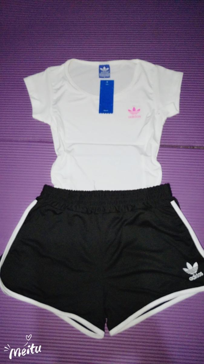 Oferta!!short Pantalón Corto Mujer adidas Negro Blanco
