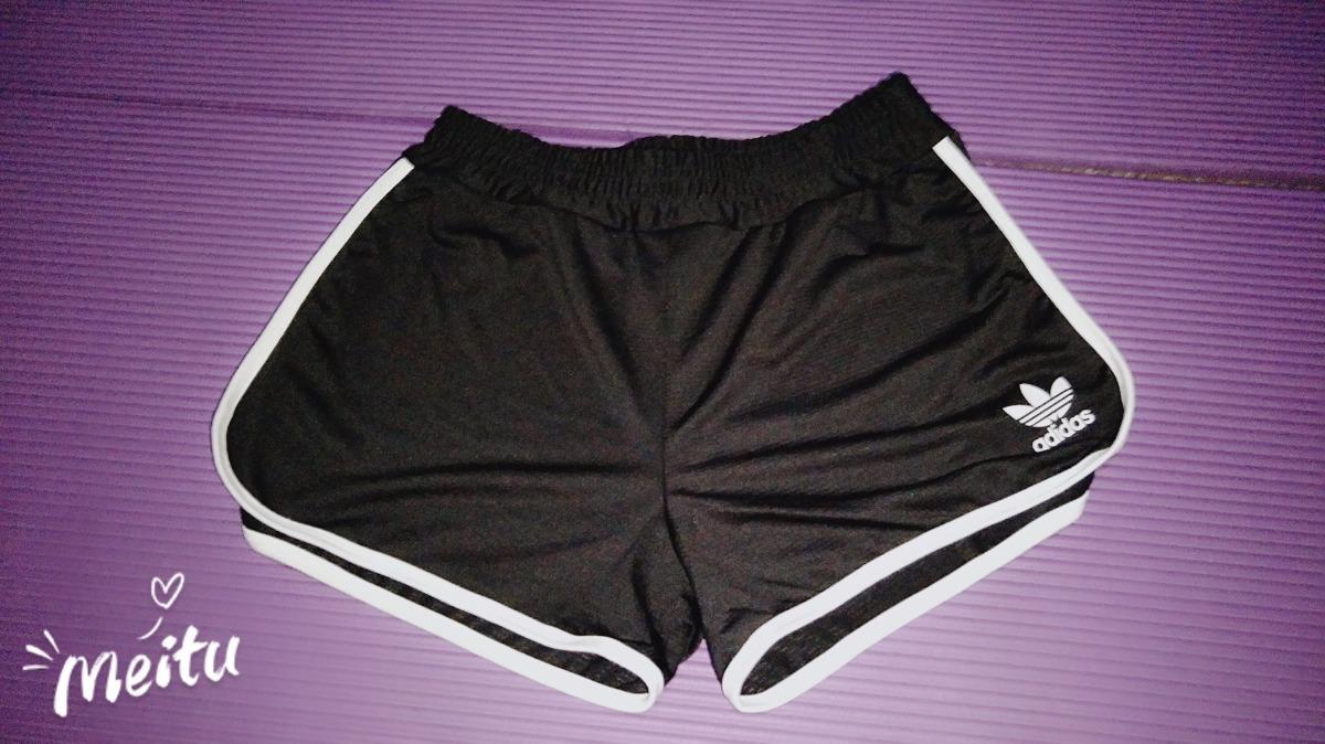 ab4bad54a Oferta!!short Pantalón Corto Mujer adidas Negro Blanco - $ 350,00 en ...