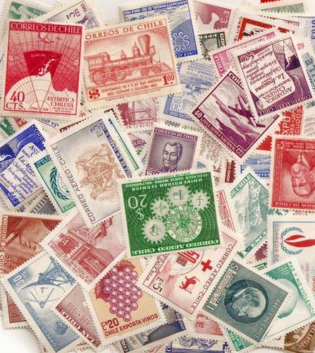 ofertón # 222, 500 sellos diferentes chile mint