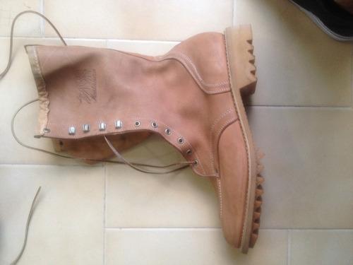 oferton  botas montañeras nuevas originales cuero puro