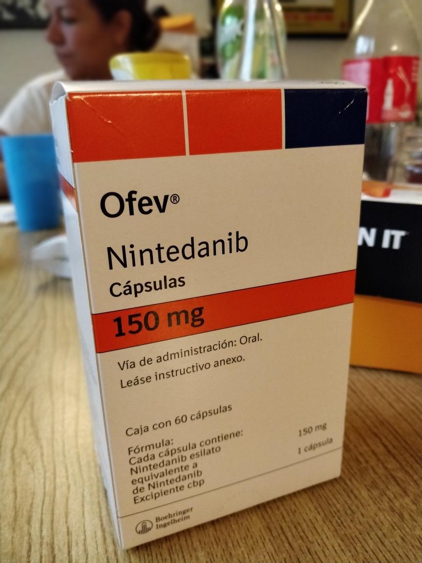 Resultado de imagen para Nintedanib 150 mg.