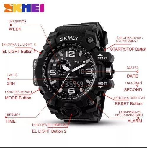 8286a5bea6f Off- 25%!! Relógio Masculino Esporte Wr Resistente Água 1155 - R ...