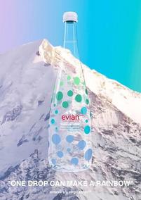 Lote de 12 Evian X Virgil abloh 75cl Botella